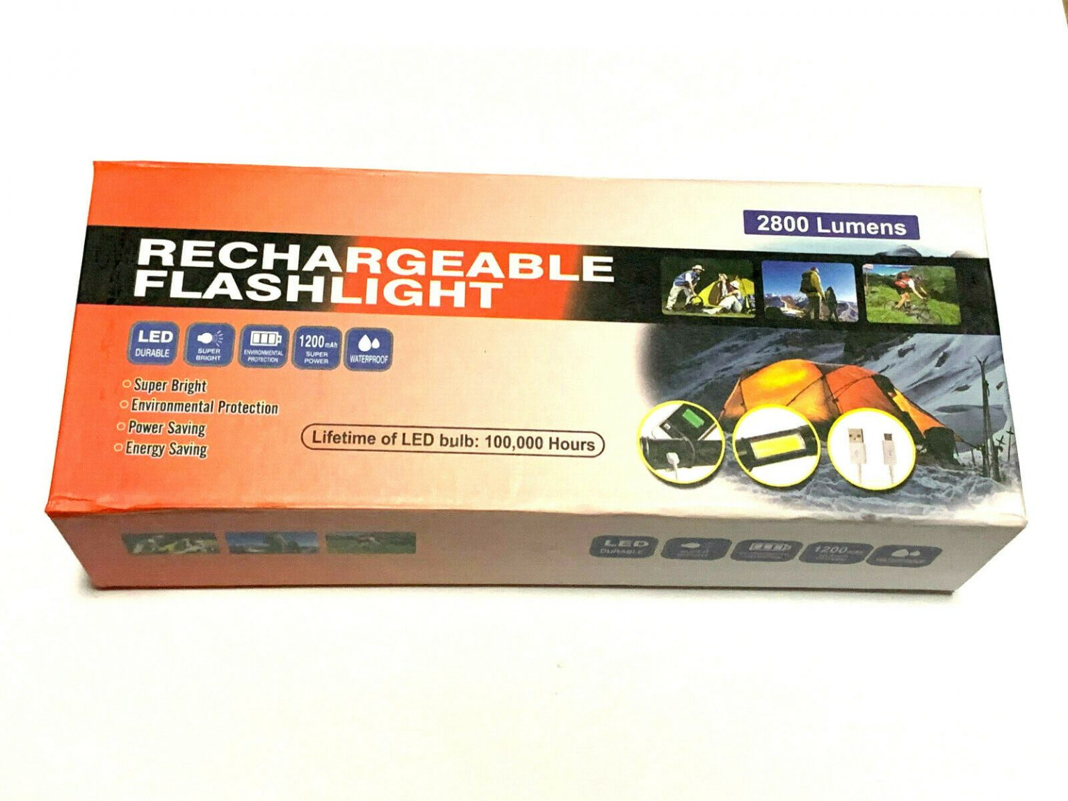 Rechargeable LED Flashlight Super Bright
