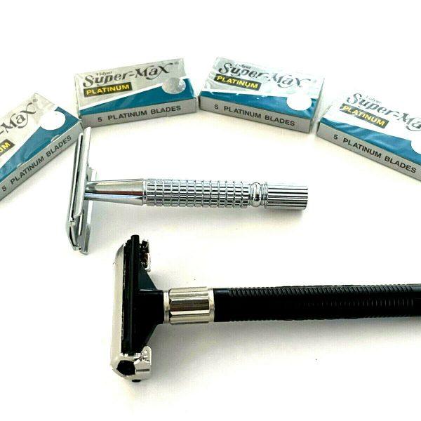 Timers Classic Safety Razors , Double Edge Razor Blades , Grooming Razor Blades Kit