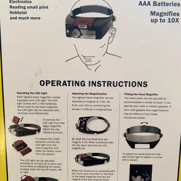 Jewelers Headband Magnifier LED