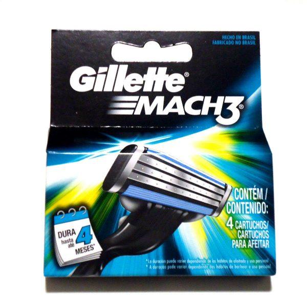 Men's Gillette MACH3 Refills Razor - 1 Pack contains 4 cartridges.