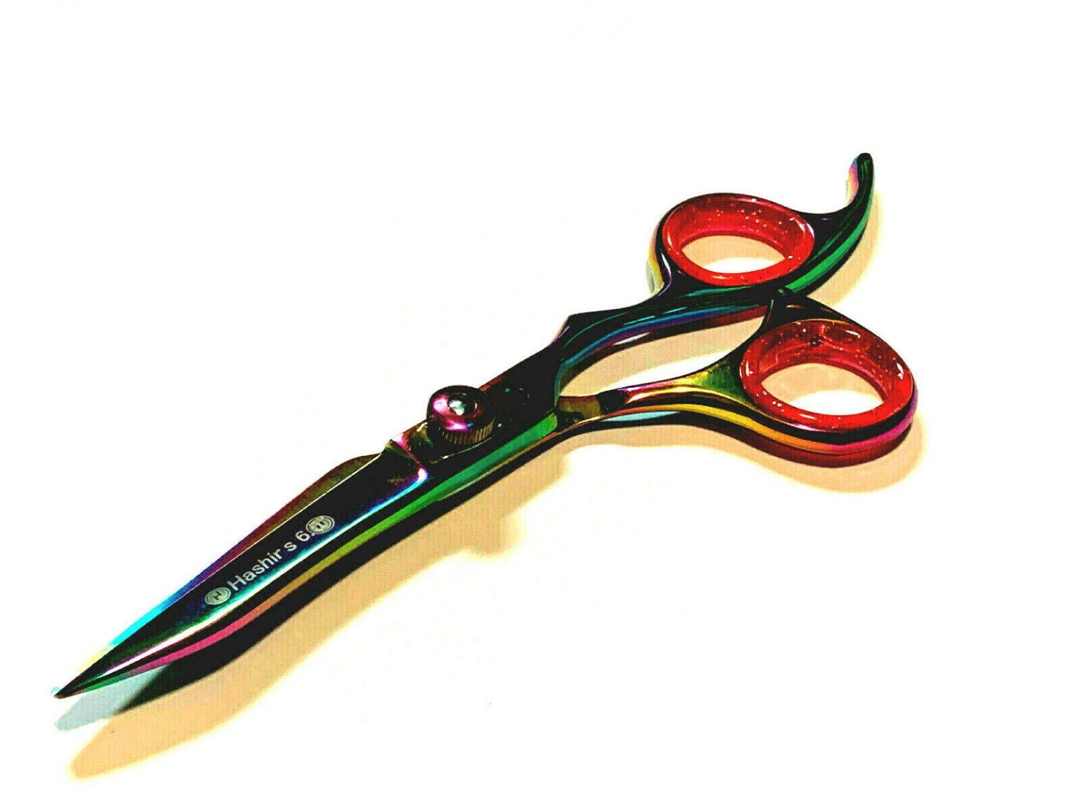Hair Cutting Scissors Multi Color Titanium