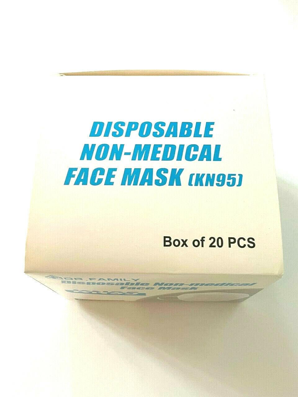 20pcs KN95 Disposable Non Medical