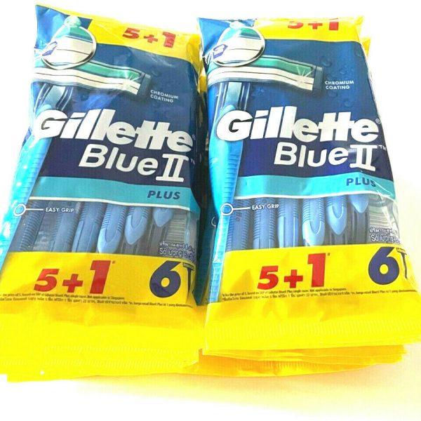 12 packs Gillette Blue II Plus