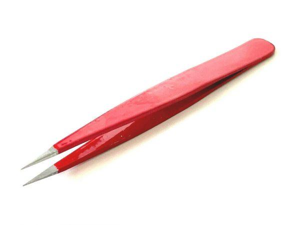 Red Color Eyebrow Multi Purpose Tweezers