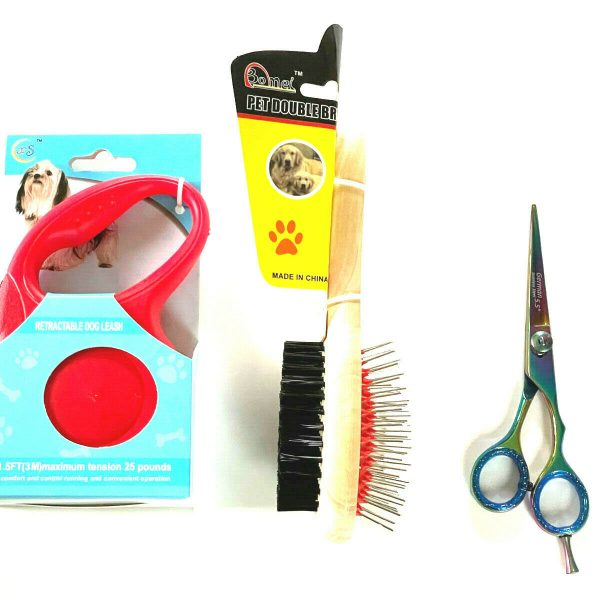 Double Brush Grooming Hair Scissors